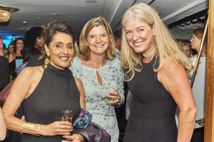 Above: (left-right) Meera Santoro and colleague Jo Campbell with Bettina Koeckler of the Deal Factory at last week's Licensing Awards event.