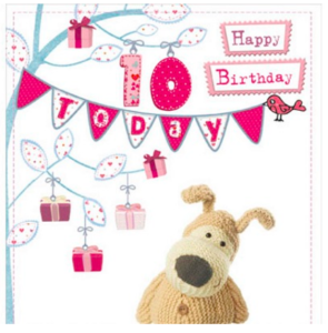 Above: A portion of a UKG Boofle 10thbirthday card that Love Kate's is featuring on its blog post about its birthday.