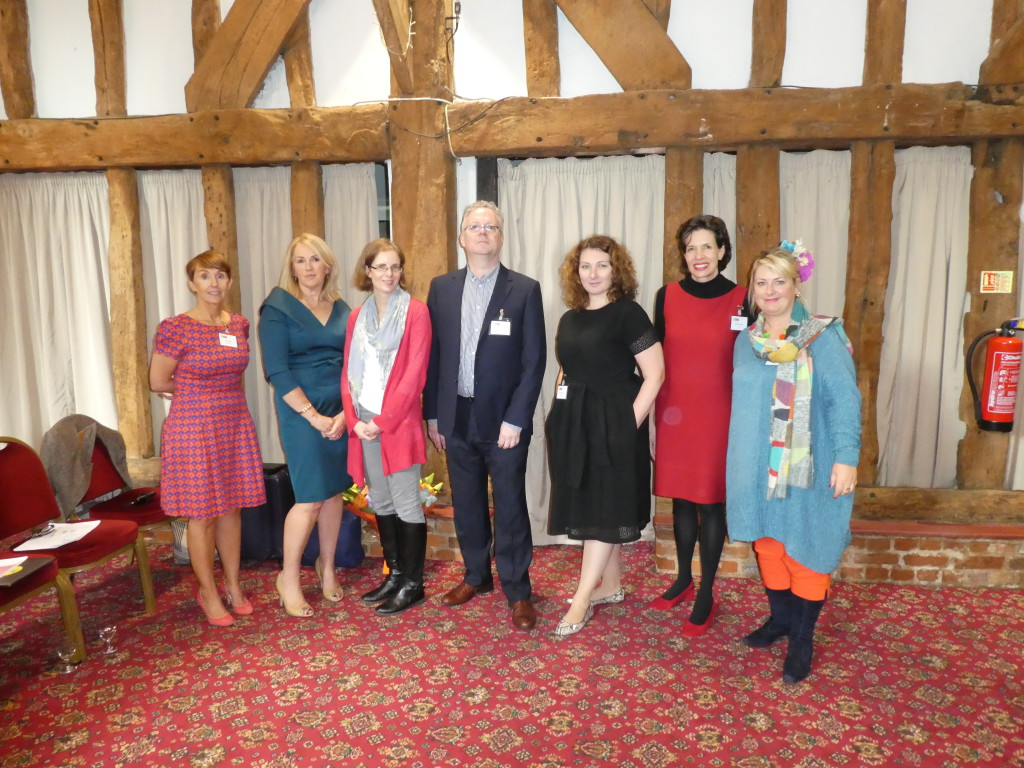 Above: There was a cracking line-up of speakers. (Left-right) GCA president Ceri Stirland (customer and channel director of UKG), Card Factory ceo Karen Hubbard, Sue Morrish (co-founder of Glebe Cottage and The Eco-friendly Card Co) and Moonpig's design director Geoff Sanderson and head of licensing, Sarah-Jane Porter with incoming GCA ceo Amanda Fergusson and PG editor (and GCA general secretary) Jakki Brown.