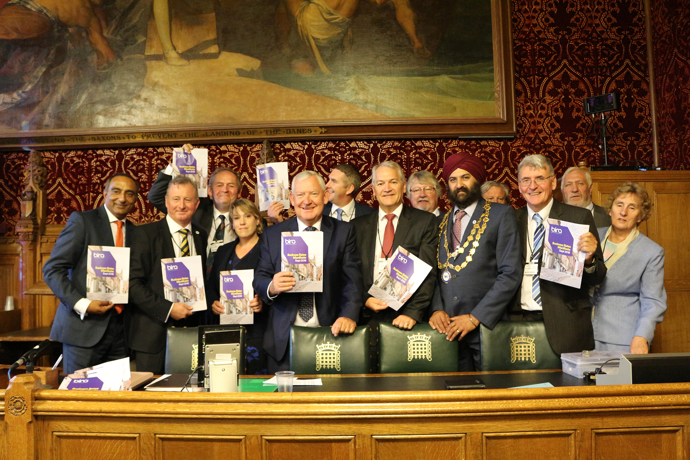 Above: Members of the bira team in the Houses of Parliament delivering their Business Rates Reform manifesto to MPs in an effort to help independent retailers.