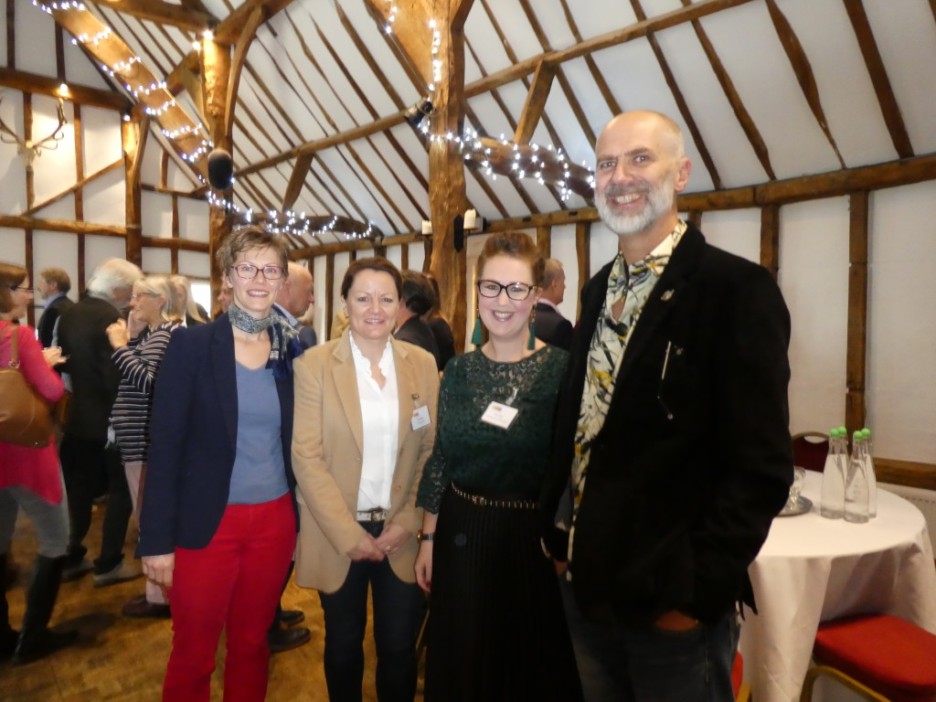 Above: While thanks were given to outgoing GCA Council members, Bill Greeno (of Paperlink), Nigel Willcock (of Paper Rose) and Mark Williams (of Brainbox Candy) there was a warm welcome for new Council members Brett Smith (of Danilo), Marion Hancock (of Art Cards Ireland), Larisa Barker (of Hallmark) and Really Good's Lisa Shoesmith (pictured far left with colleagues Fiona Burge [seconf left] and David Hicks as well as Woodmansterne's Kate Leach.)