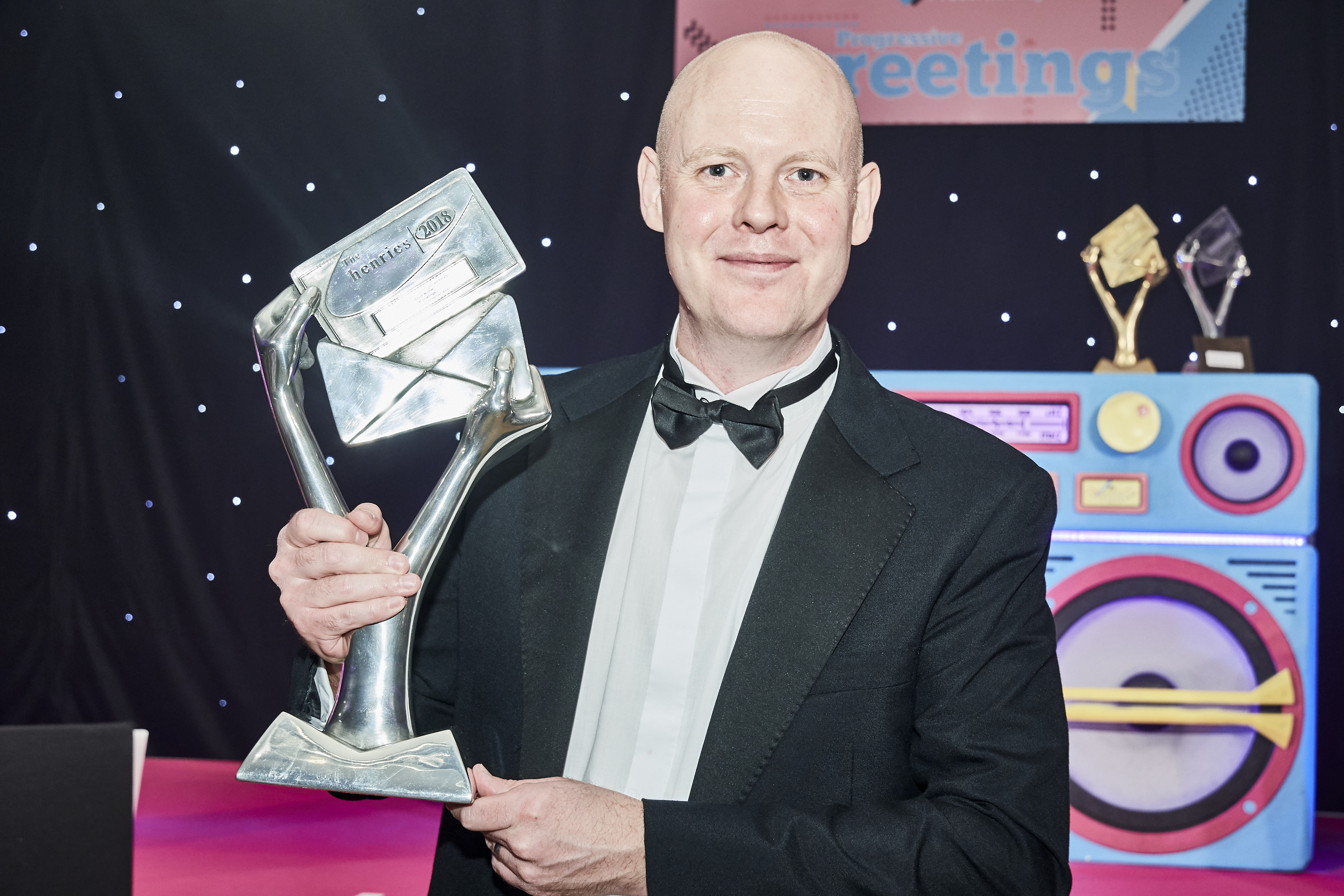Above: UKG's Darren Cave was proud to collect the Silver Best Service to the Independent Retailer trophy.