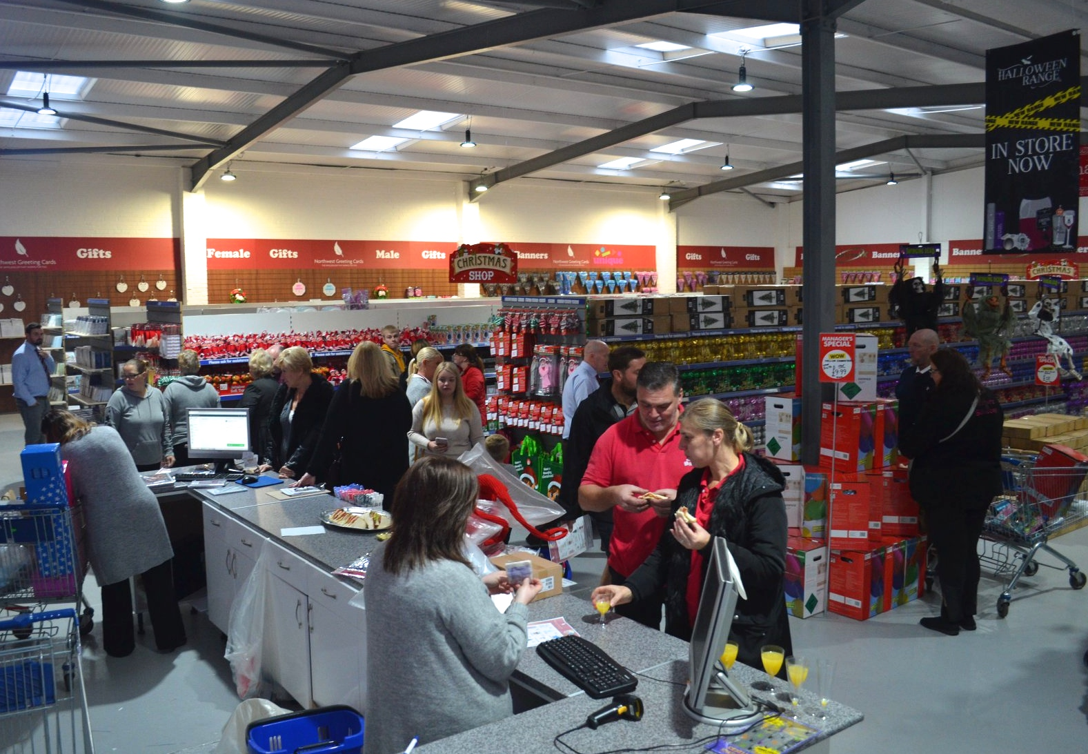Above: Inside the brand new card, gift and party wholesalers.