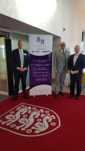 Above: Words 'n' Wishes md Rod Brown (centre) with Danilo's md Daniel Prince and sales director Brett Smith.