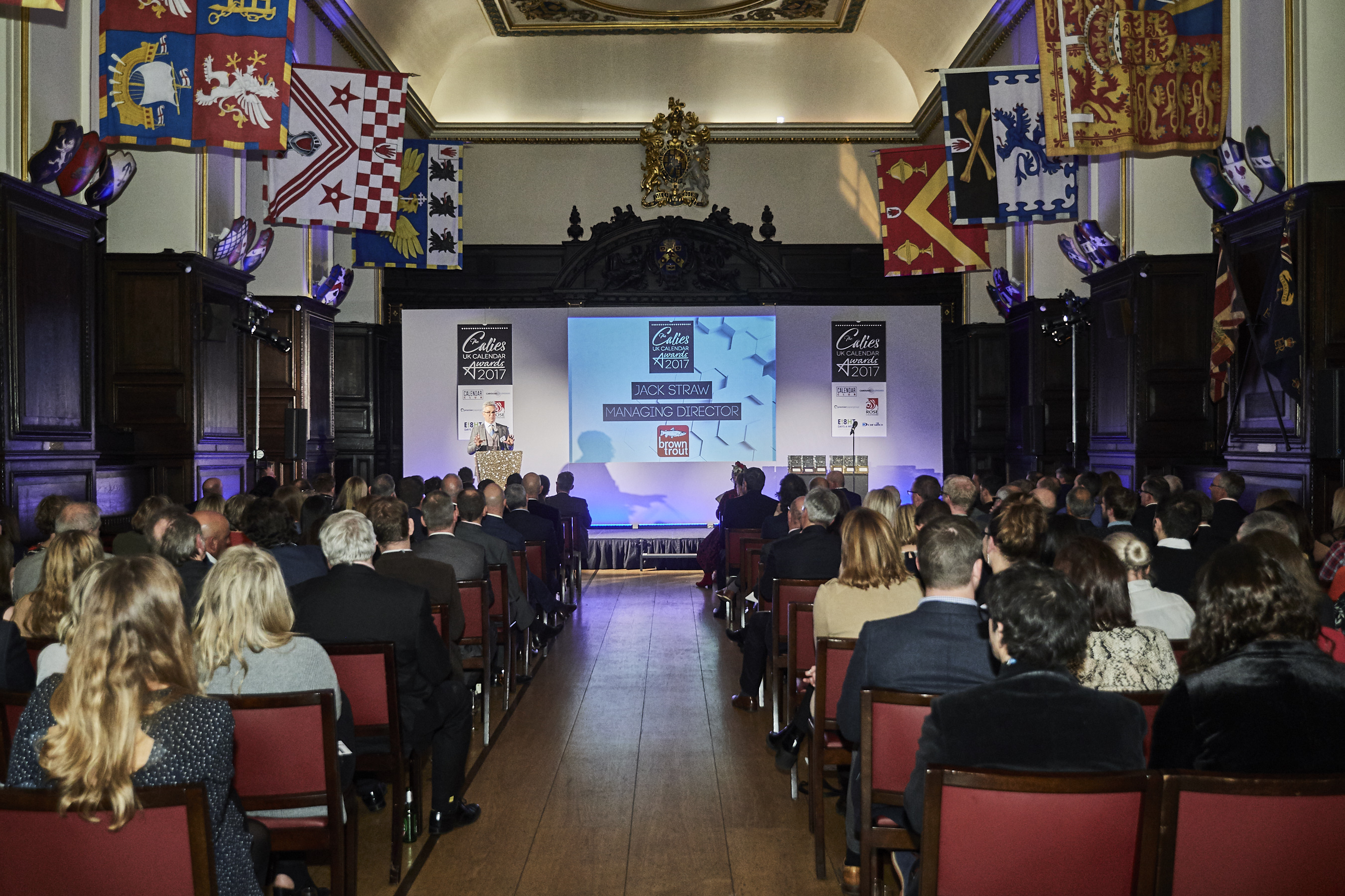 Above: Last year's inaugural Calies saw a packed house at the historic Stationers' Hall.