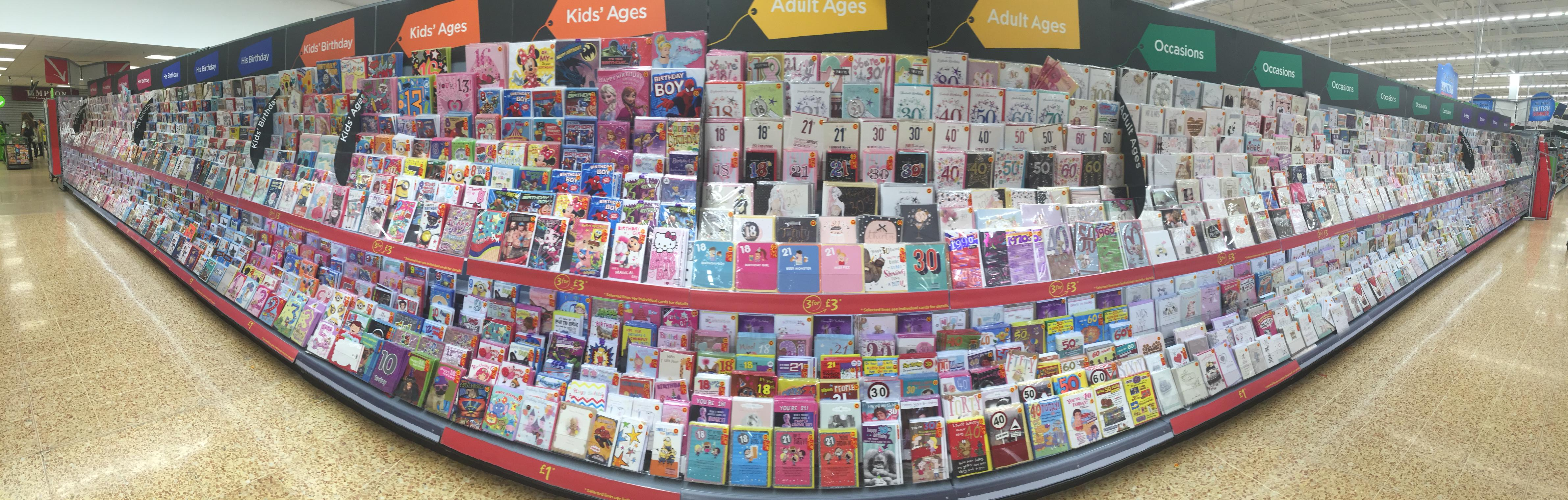 Above: UKG is Asda's category manager for greeting cards.