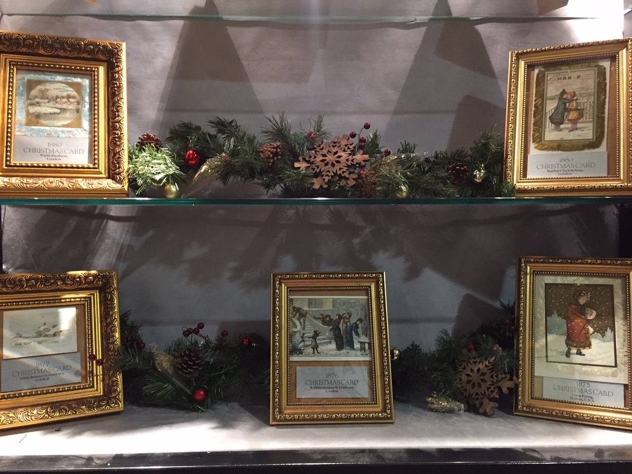 Above: The exhibition includes some actual examples of historic Christmas cards.