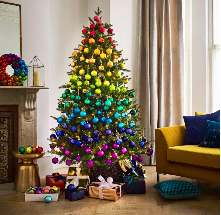 Above: Rainbows is one trend highlighted by John Lewis & Partners this Christmas.