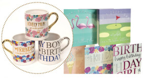Above: Widdop and Co is launching Wendy Jones-Blackett mugs which co-ordinate with the cards.