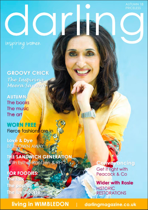 Above: Meera Santoro on the front cover of the Darling magazine.