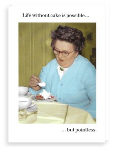Above: A delicious Cath Tate Photocaptions card.