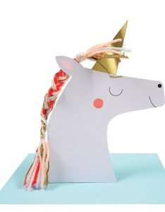 Above: A Meri Meri pop-up unicorn card.