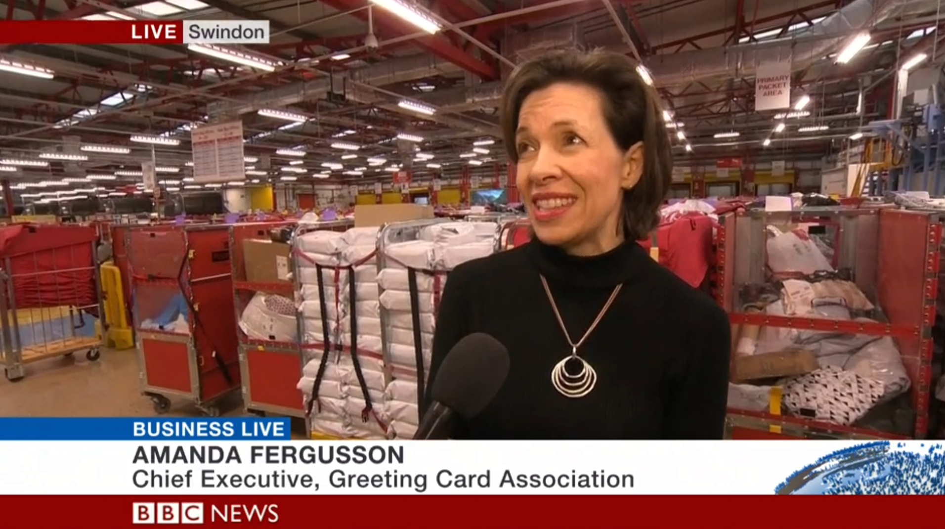 Above: As well as appearing twice on BBC Breakfast, Amanda also appeared on BBC Business Live on the BBC News 24 channel.
