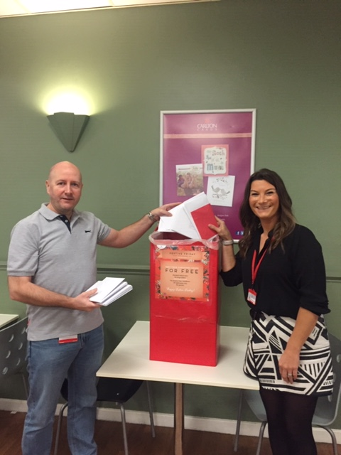 Above: UKG once again really got behind Festive Friday, allowing the staff at its Dewsbury HQ to write their Christmas cards with the company paying for the postage.