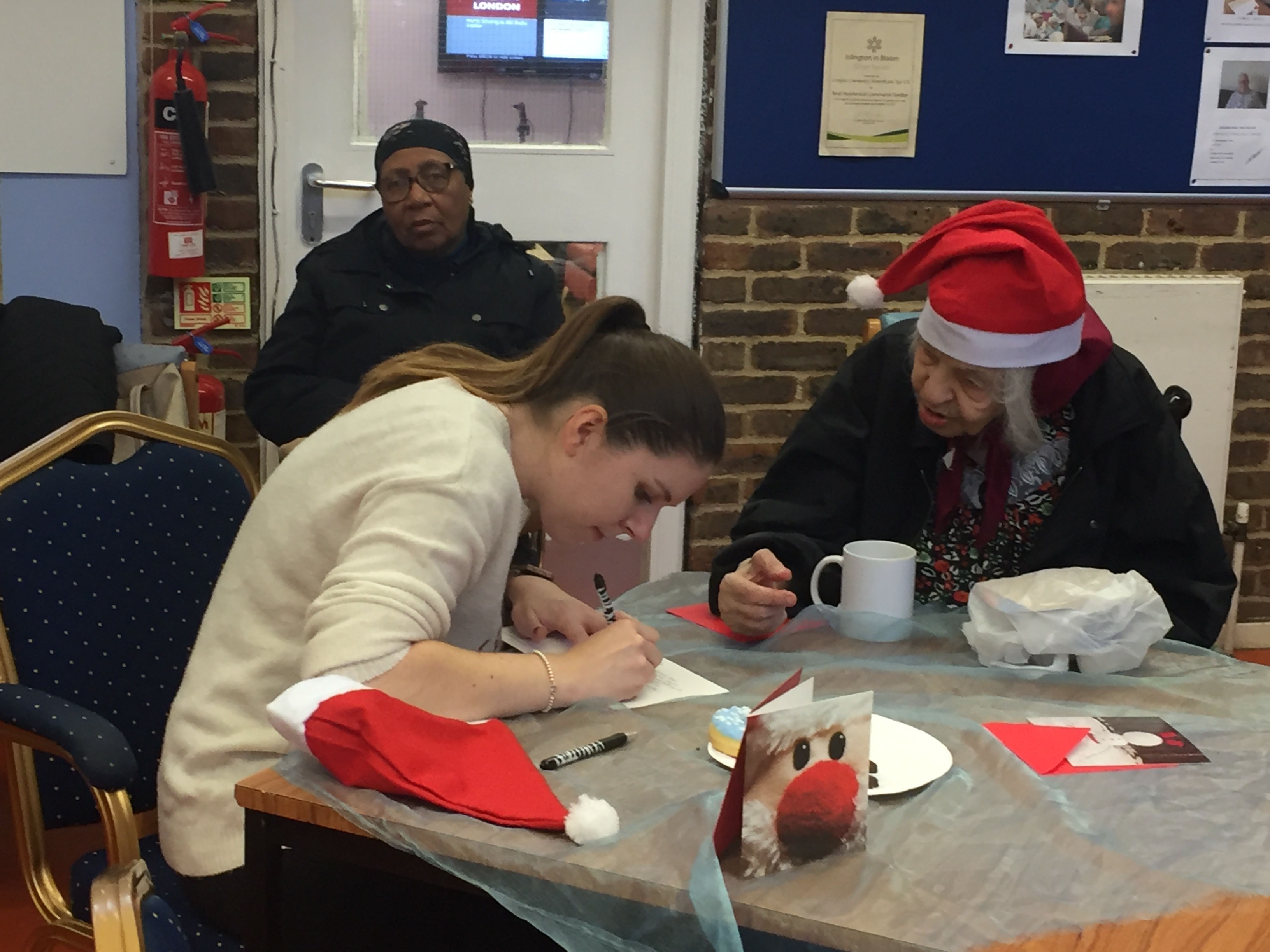 Above: Festive Friday in action at the Age UK Drovers Centre, instigated by the GCA.