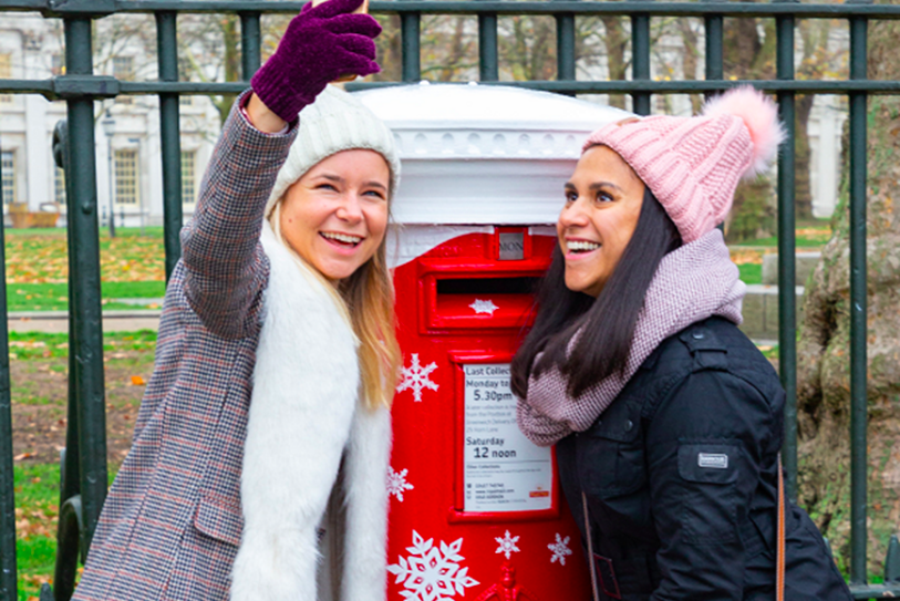 Above: The singing postbox's were a real crowdpleaser in the locations they were installed, helping to get people in the Christmas card writing mode.
