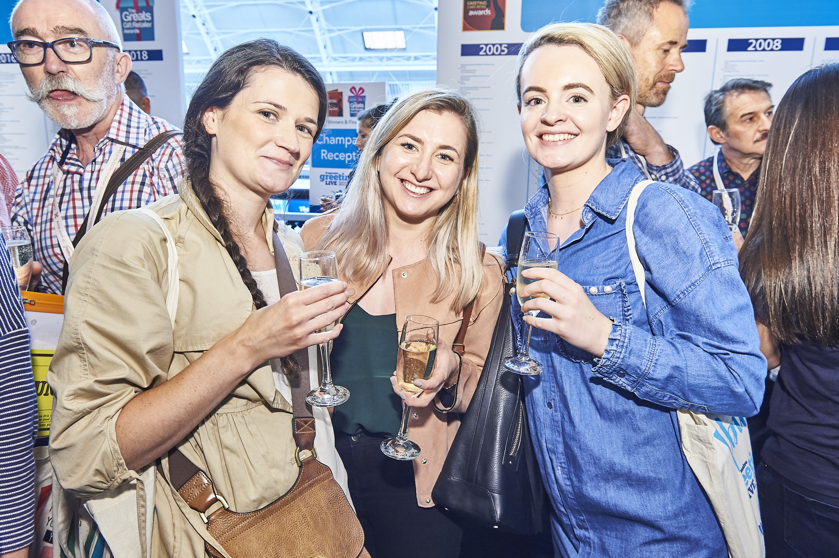 Above:Natalia Kosterska (centre) with Oliver Bonas colleagues Siobhain Watkins (left) and Rachael Pearson at PG Live in June.