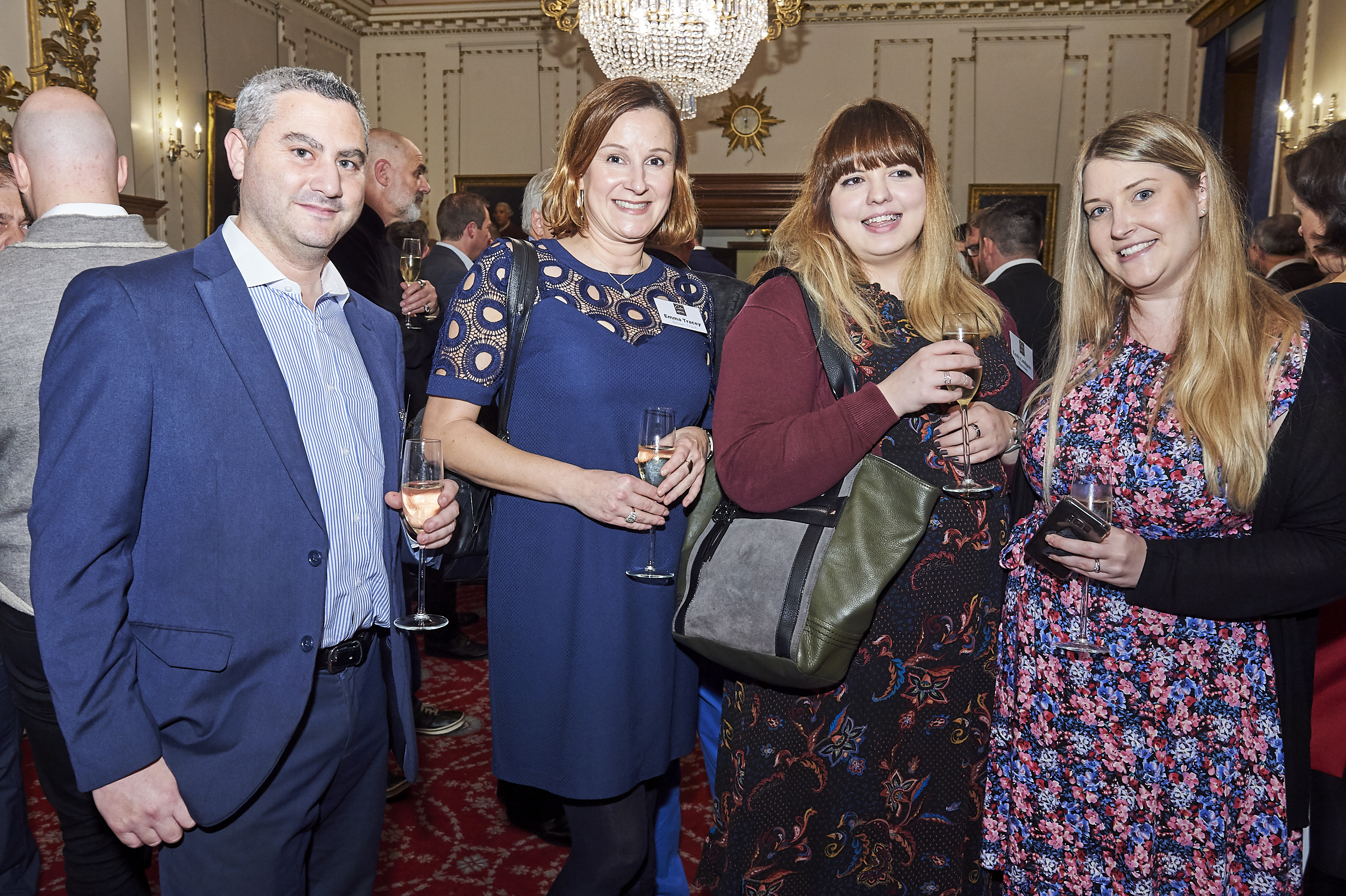 Above: (far left) Daniel Prince, md of Danilo caught up with Waterstones' buyers (far right, second right) Claire Quinn and Emily Catchpole and BrownTrout's Emma Tracey at The Calies last week (November 28).