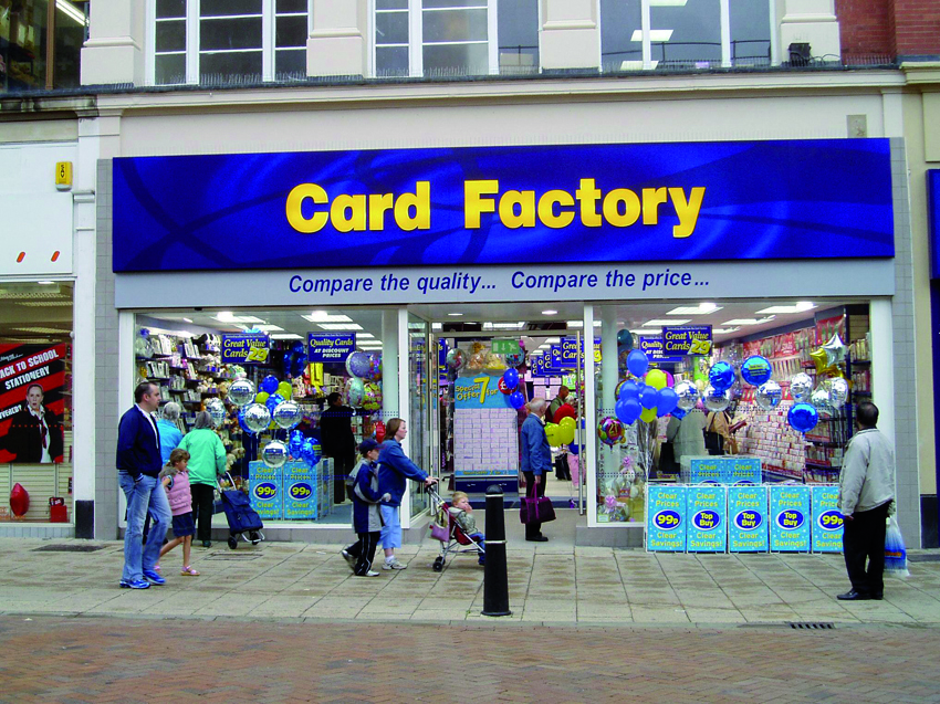 Above: Card Factory ended 2018 trading from 973 stores, including seven trial stores in the Republic of Ireland.