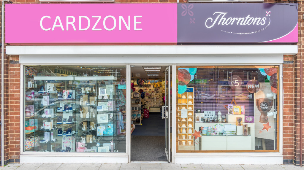 Above: Cardzone was pleased to show an increase despite the drop in footfall.
