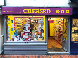 Above: It was a disappointing Christmas for Creased Cards in Brighton.