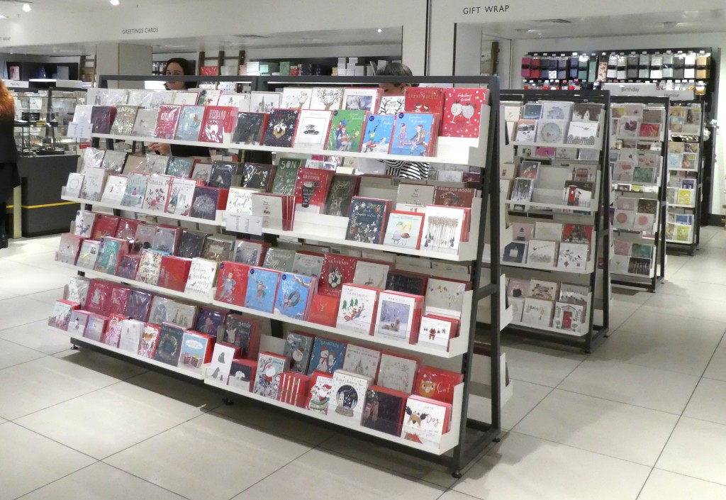 Above: Some of the Christmas singles display in JL&P's Oxford Street store.