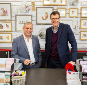 Above: Miles Robinson (left) with business partner Nigel Williamson, who sensed some cost saving behaviour in Christmas card buying in 2018.