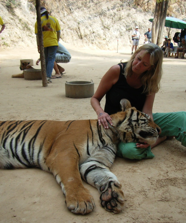 Above: Agent Sarah Caldicott up close with a real endangered species!