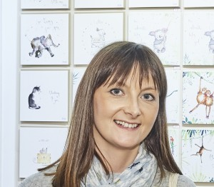 Above: Sarah Lishman was delighted its Christmas card sales end up 4%.
