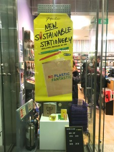 Above: The new range is being promoted in Paperchase's windows.