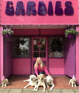 Above: Jo Sorrell and some of her 'Ponks' outside Cardies.