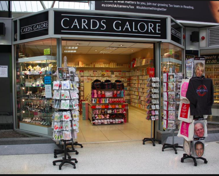 Above: Cards Galore lost out on the last minute Christmas Eve sales.