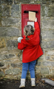Above: Good to see Christmas card sending is popular among youngsters.