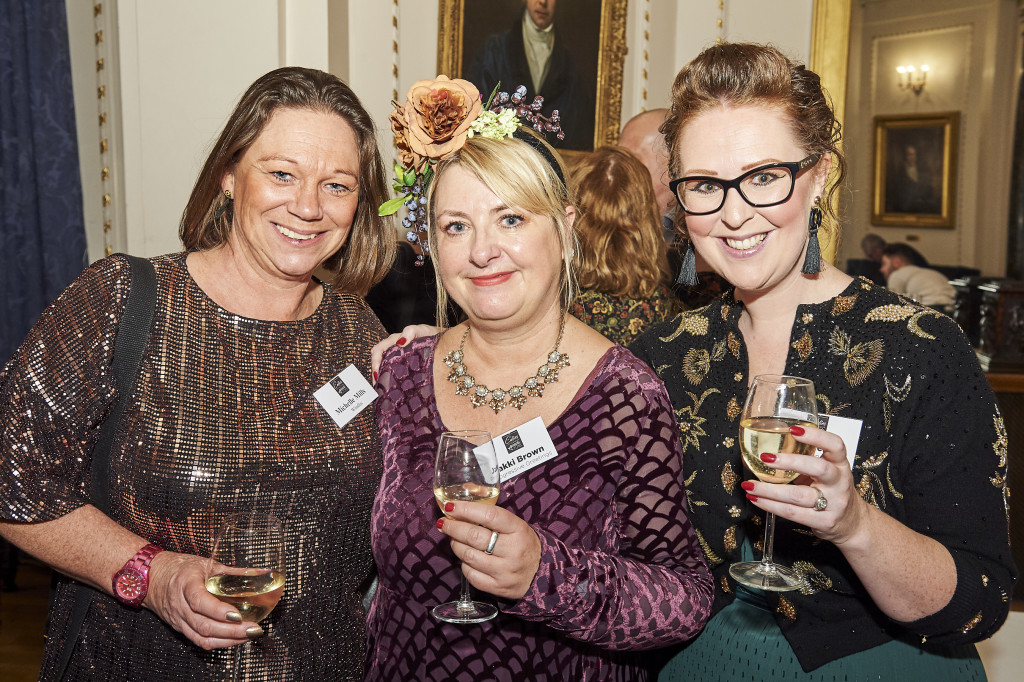 Above: Windles' Michelle Mills (left) with Woodmansterne's Kate Leach (right) and PG's Jakki Brown at the recent Calies awards.