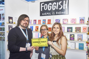 Above: Scribbler's Andrew Webb and Sarah Bertram (centre) will be among the 'dragons' at the event. Seen here at last year's PG Live, spending their Sunshine Ticket with Foggish.