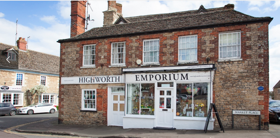Above: The Highworth Emporium's card sales soared this Christmas.