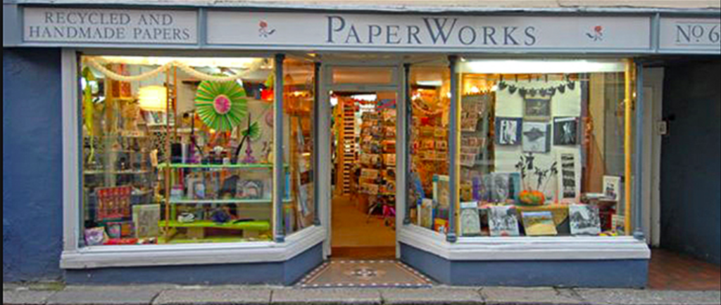 Above: It was the stance being taken by Totnes retailer PaperWorks that prompted Sarah Thompson to instigate the change.