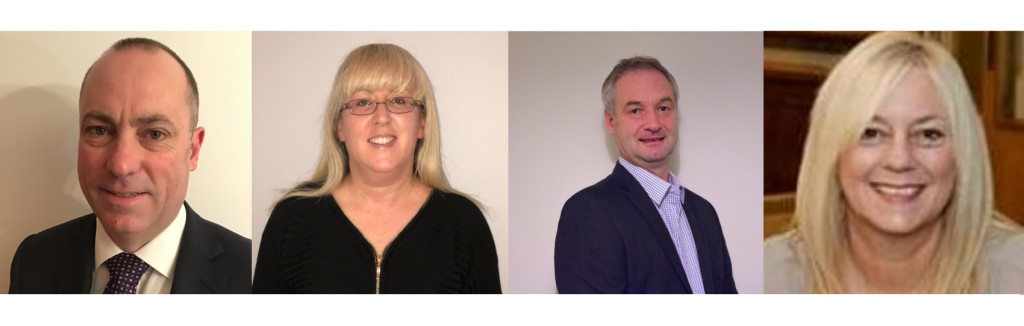 Above: New joiners to the Words 'n' Wishes salesteam (left-right) Mark Roberts, Kate Randall, Steve Brown and Lisa Williams (who joins from the end of January).