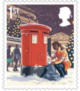 Above: One of the 2018 Christmas stamps.