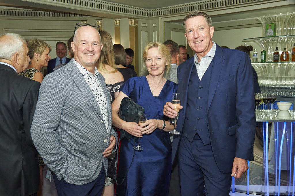 Above: Martin Nevin (left) and Chris Houfe (right) with WHS' Claire Castle at The Retas last July.