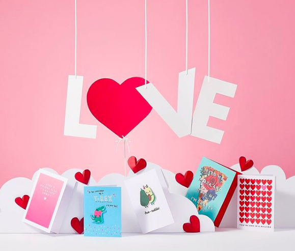 Above: Some of Paperchase's Valentine's promotion.