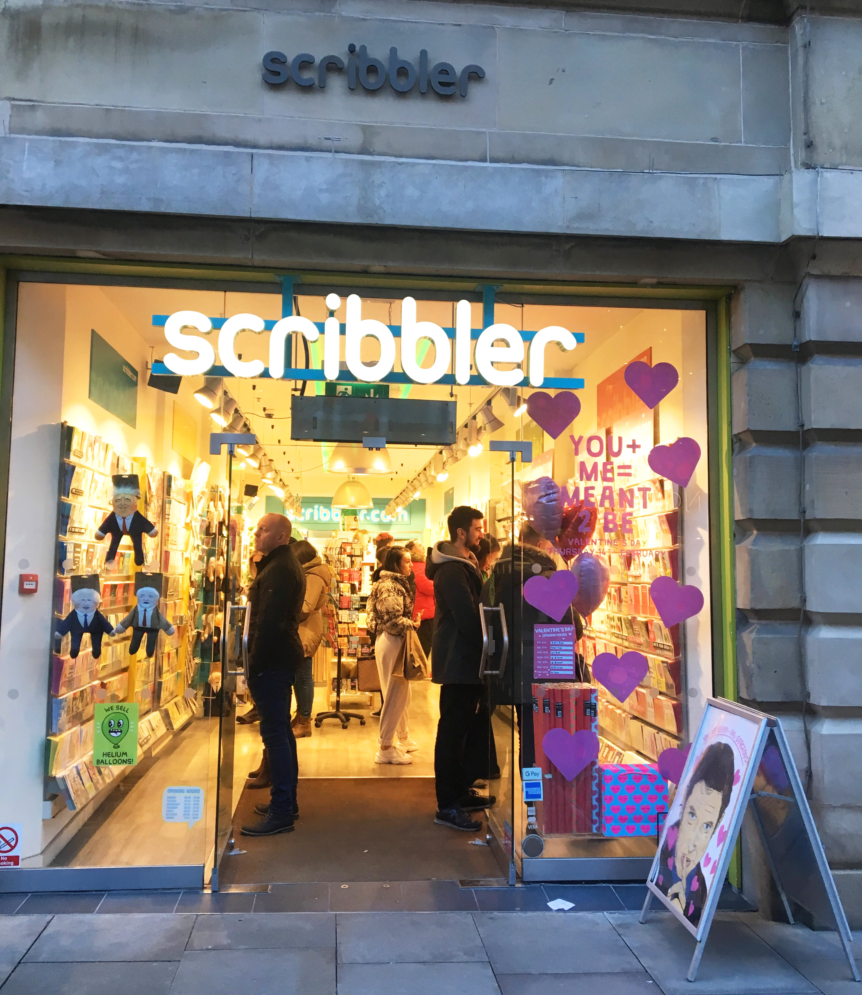 Above: A busy scene in Scribbler's Manchester store on Saturday.