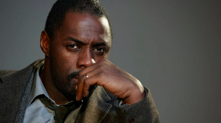 Above: Idris Elba was the top choice of man that most Brits would like to receive a romantic note from.