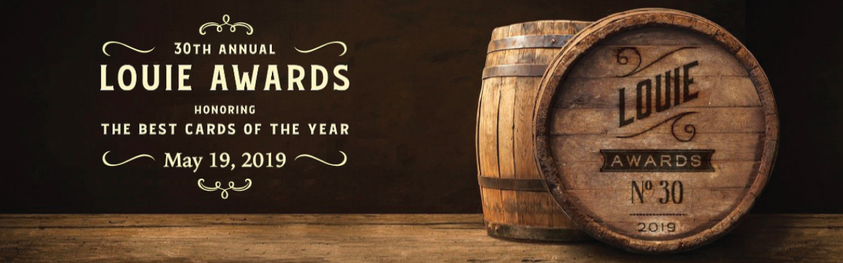 Above: The branding for this year's Louie awards.