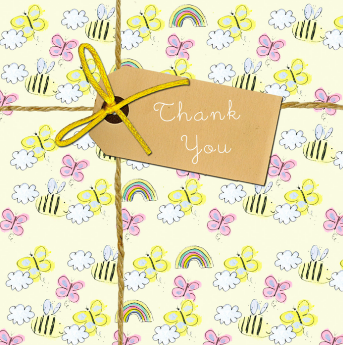 Above: A delightful Laura Sherratt design that is in the finals of the Thank You category.