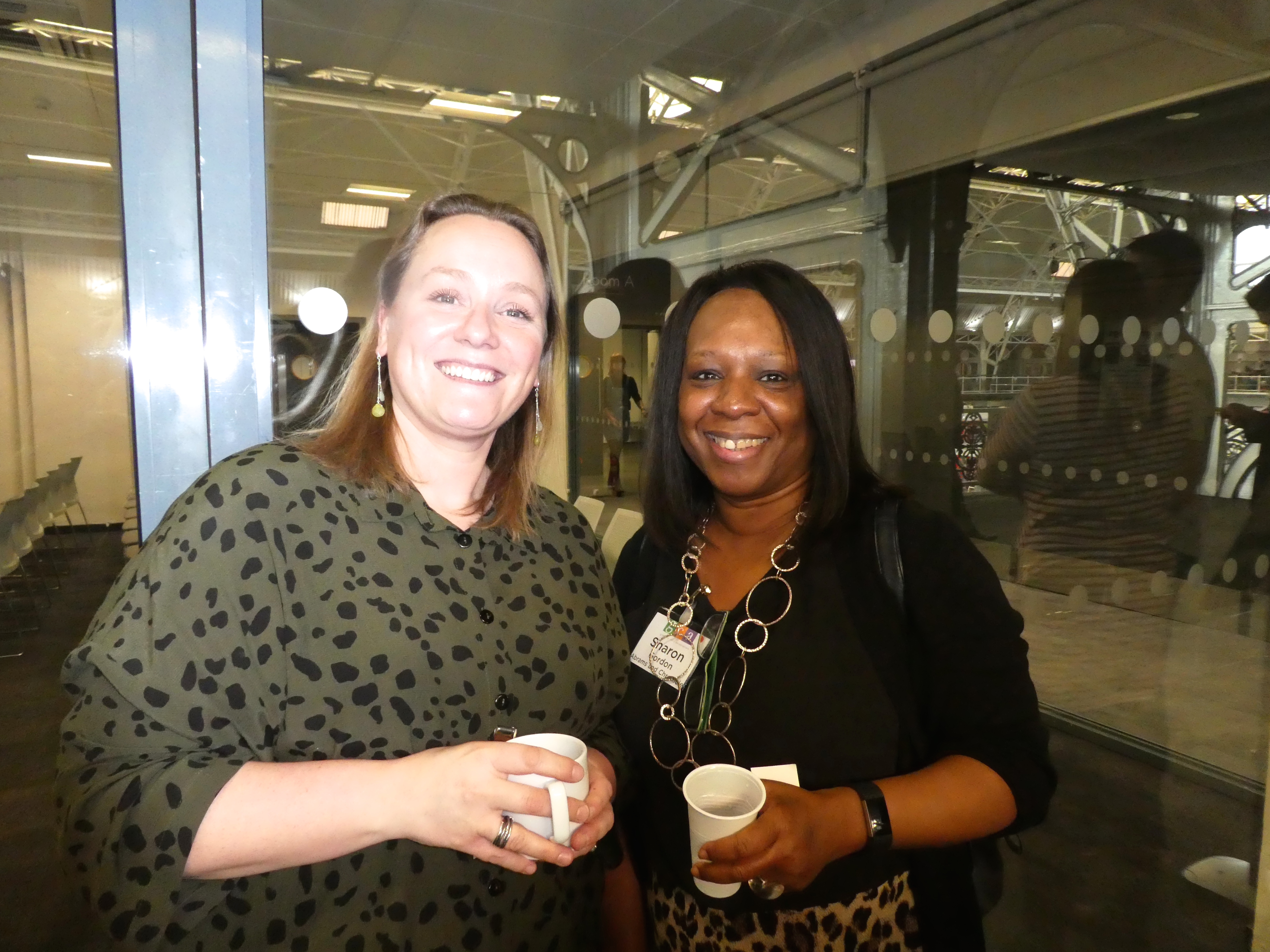 Above: John Lewis & Partners' Lisa Rutherford (left) with Abrams & Chronicle's Sharon Gordon at Tuesday's GCA event.