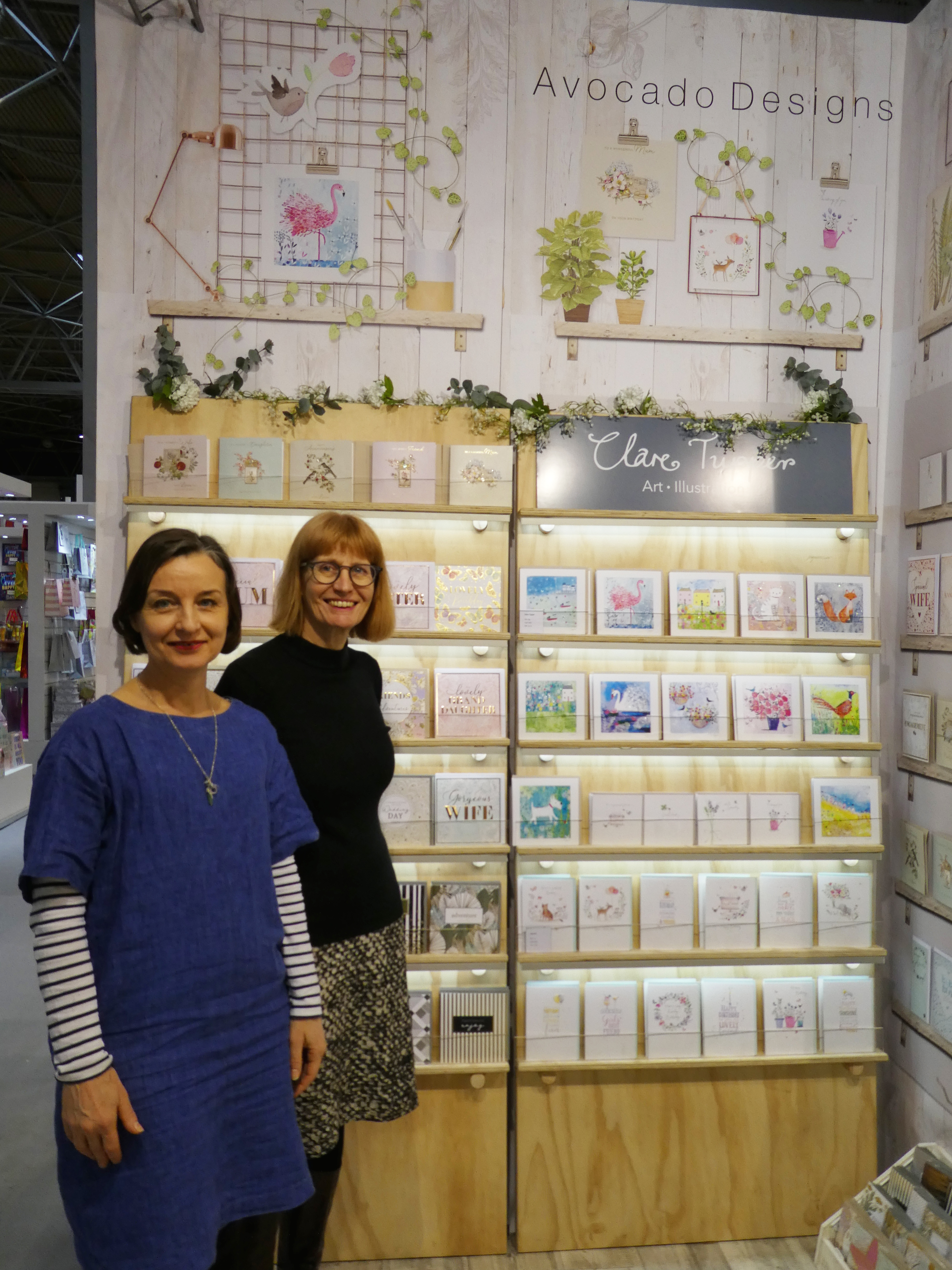 Above: Paper Rose's Reggie Pugh (right) and Philippa Phipps on the stand at the Spring Fair.