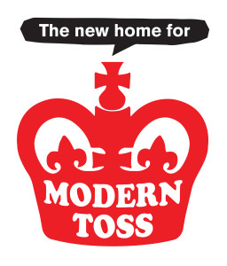 Above: Modern Toss' well recognised logo.