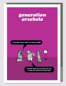 Above: One of the many Modern Toss card designs.