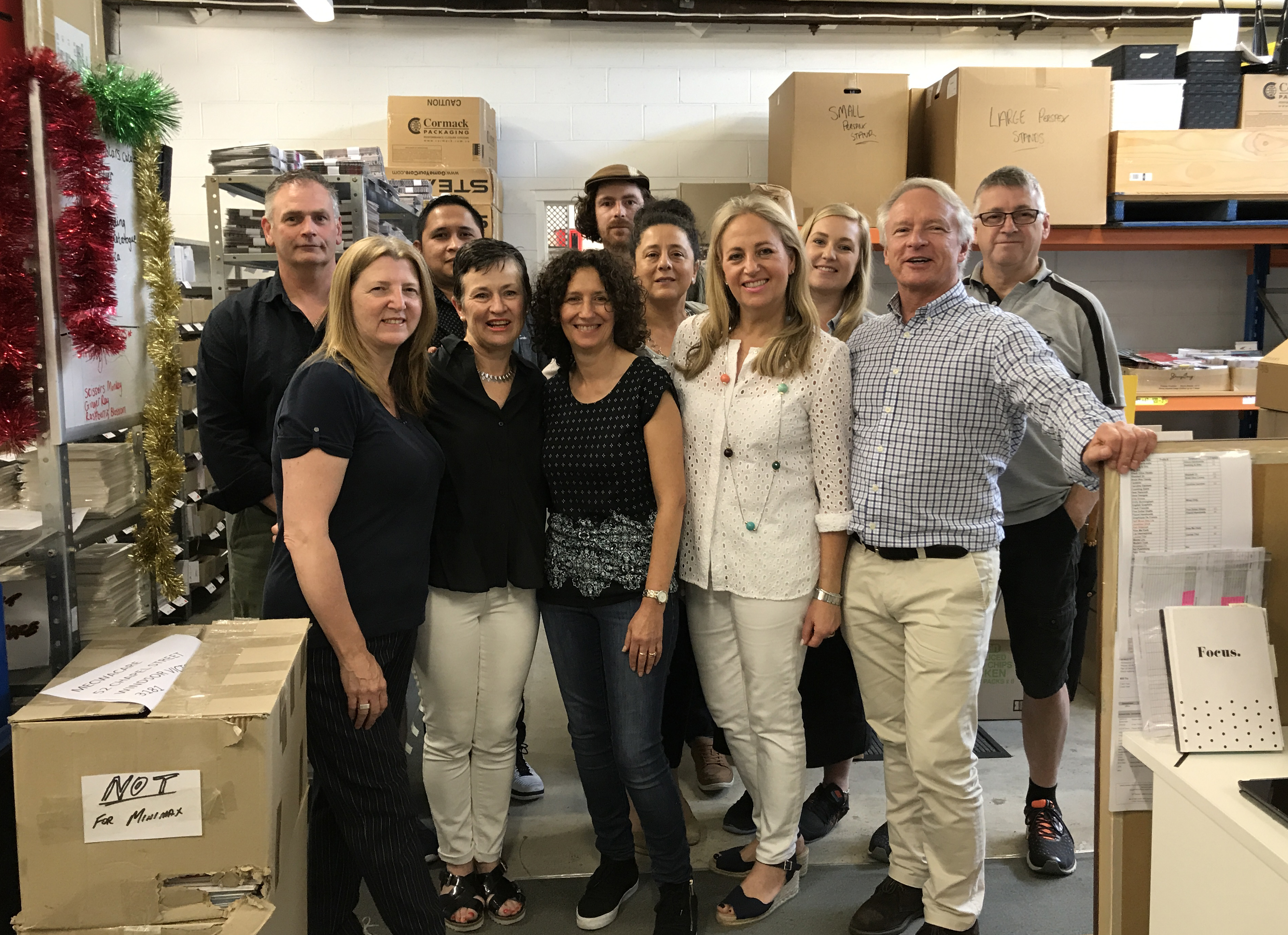 Above: Scarpa Imports' directors Mark and Sarah Kagan with the rest of the team in its HQ.